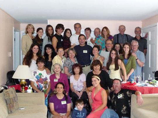 Riunione della famiglia Pezzillo nel giugno 2009