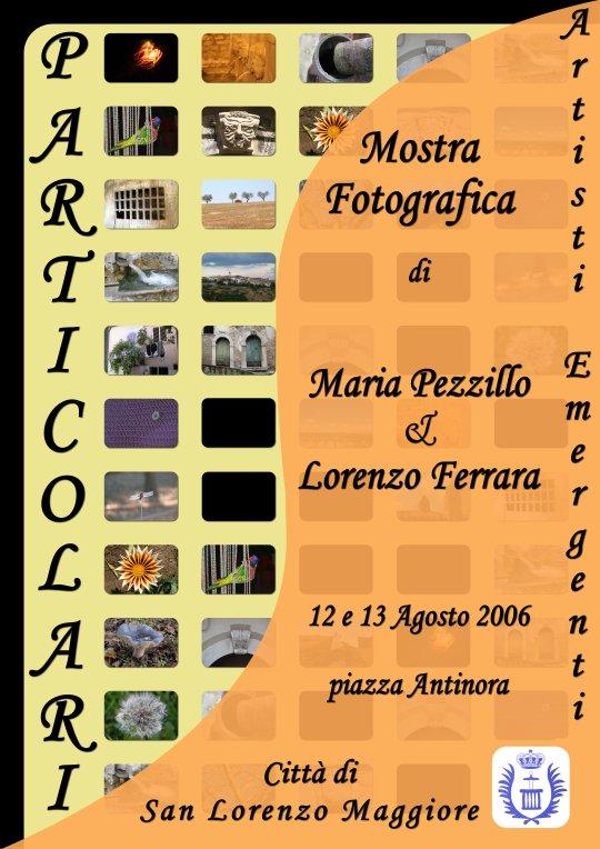 Locandina mostra fotografica Particolari di Maria Pezzillo e Lorenzo Ferrara