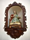 Cornice in legno della nicchia di Sant'Amando