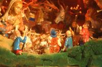 Sacra Famiglia e pastori adoranti