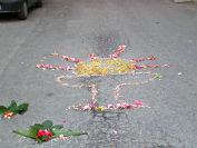 Sacramento disegnato con i fiori